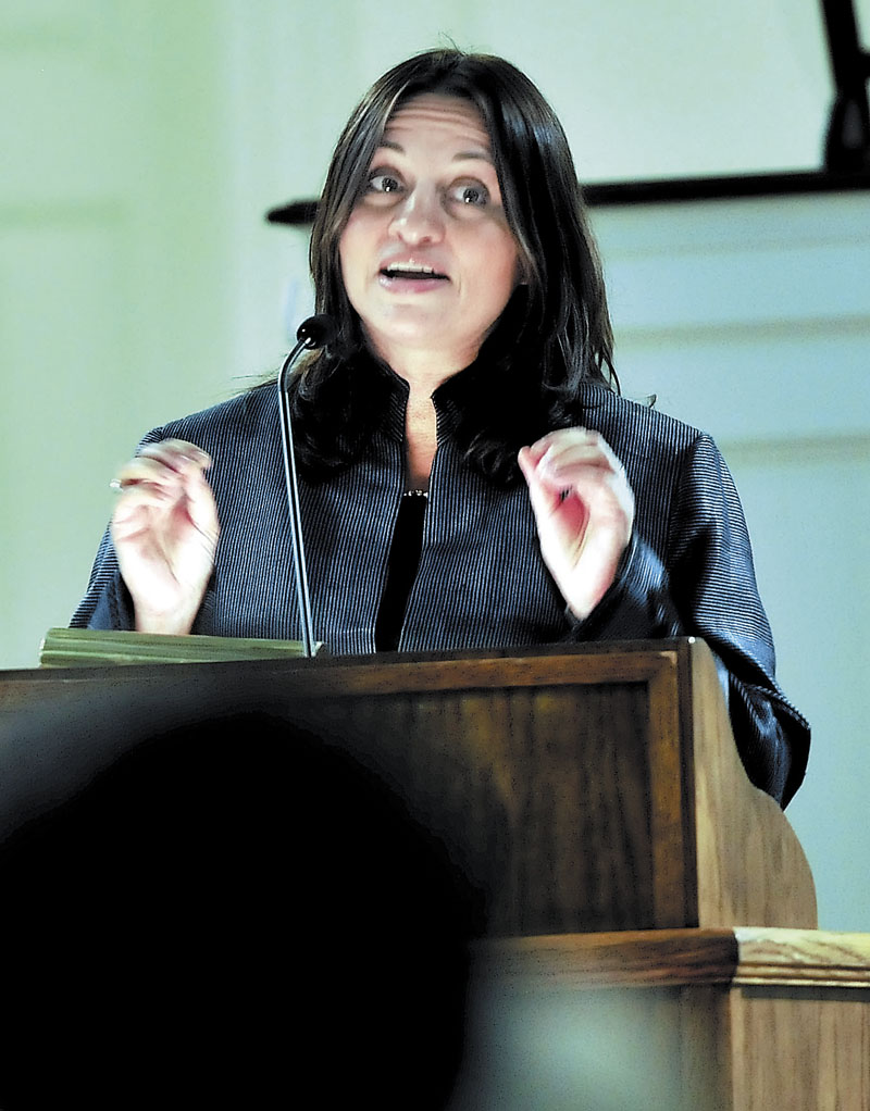 HONORED: NPR foreign correspondent Soraya Sarhaddi Nelson speaks Sunday at Colby College in Waterville. Nelson was this this year's recipient of the Elijah Parish Lovejoy Award, which recognizes courage in journalism.