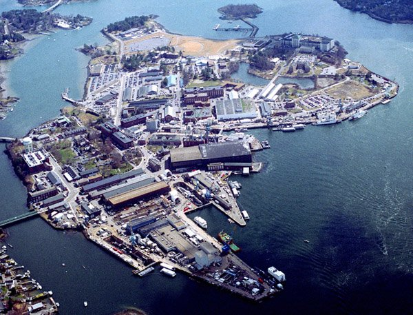 The Portsmouth Naval Shipyard in Kittery is one of only four remaining Navy shipyards. About 4,600 civilians and 96 military personnel work there.