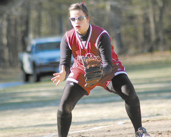 VITAL PRESENCE: Amy Jones' return is a big boost for the University of Maine at Farmington softball team, which hopes to contend for the North Atlantic Conference softball title this year. Last spring, she led UMF in runs scored (29), home runs (four), on-base percentage (.395) and stolen bases (six).