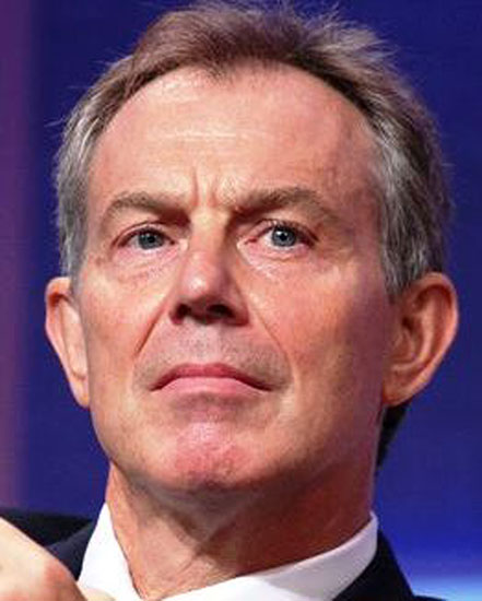 Former British prime minister Tony Blair spoke at Colby's graduation ceremony on Sunday, May 20, 2012.