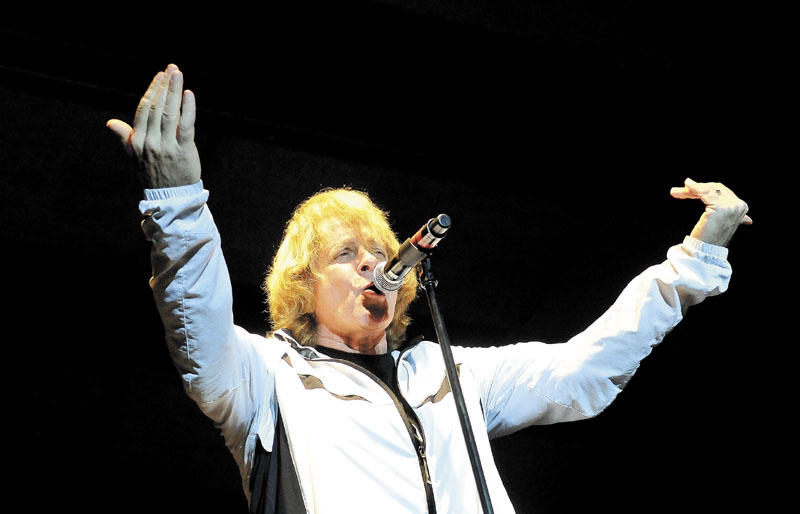 Eddie Money performs at the Concourse in Waterville on Wednesday night.