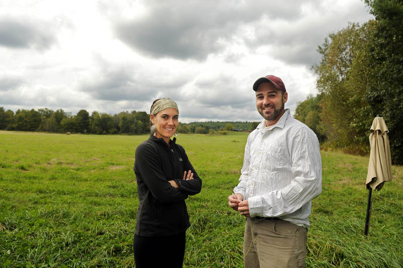 FARM SOURCING: Justin and Suzanne Cobb hope to raise several thousand dollars to convert the Winthrop family farm to a vineyard and winery.