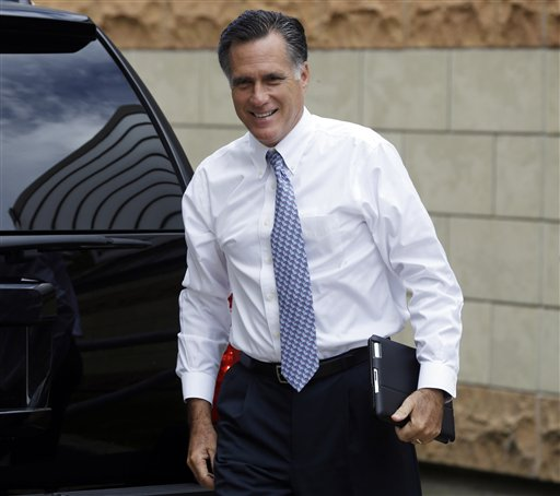 Republican presidential candidate Mitt Romney arrives at his campaign headquarters in Boston recently, to prepare for the presidential debates. If he doesn't perform well at the presidential debate on Wednesday, it won't be for lack of preparation.