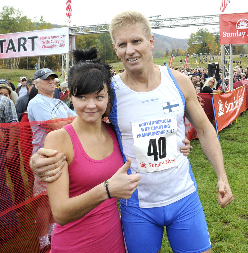 Kristiina Haapanen and Taisto Miettinen of Helsinki, Finland, reign as champions.