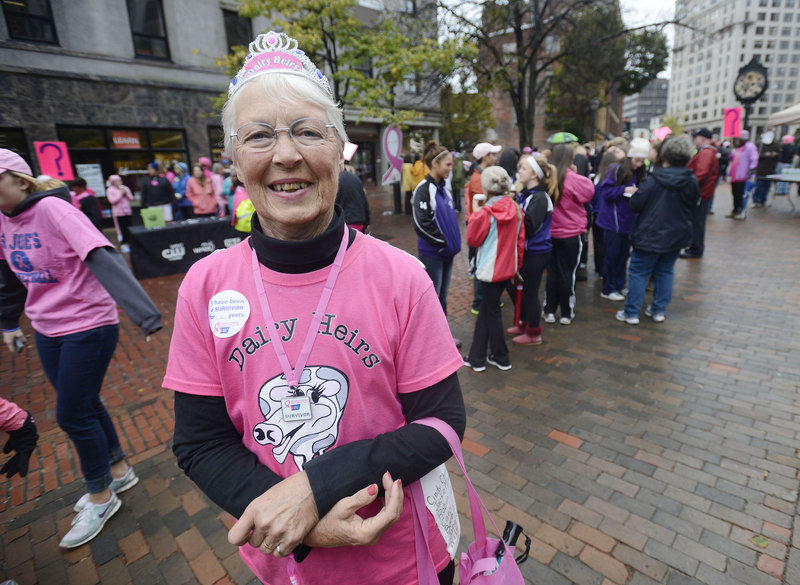 Cancer survivor Ann Morton of Bryant Pond is ready to go.
