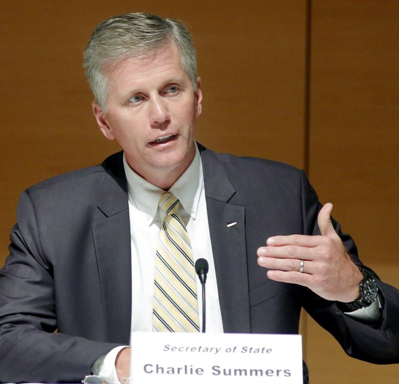 Republican U.S. Senate candidate Charlie Summers answers a question during a debate at the University of Southern Maine in Portland on Sept. 13.