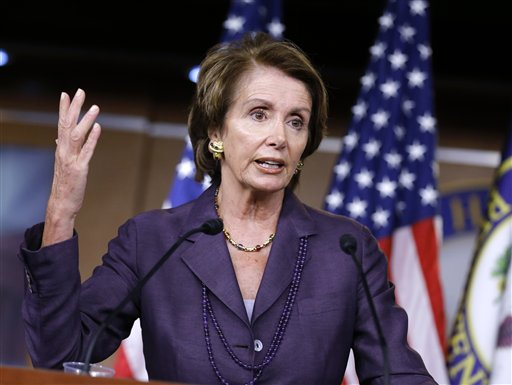 FILE - In this Sept. 13, 2012 file photo, House Minority Leader Nancy Pelosi of Calif. gestures during a news conference on Capitol Hill in Washington. A temporary reduction in Social Security payroll taxes is due to expire at the end of the year and hardly anyone in Washington is pushing to extend it. Neither Obama nor Romney has proposed an extension, and it probably wouldn�t get through Congress anyway, with lawmakers in both parties down on the idea. (AP Photo/J. Scott Applewhite, File)