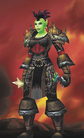 Santiaga, the World of Warcraft character played by Colleen Lachowicz, Maine Senate District 25 candidate.