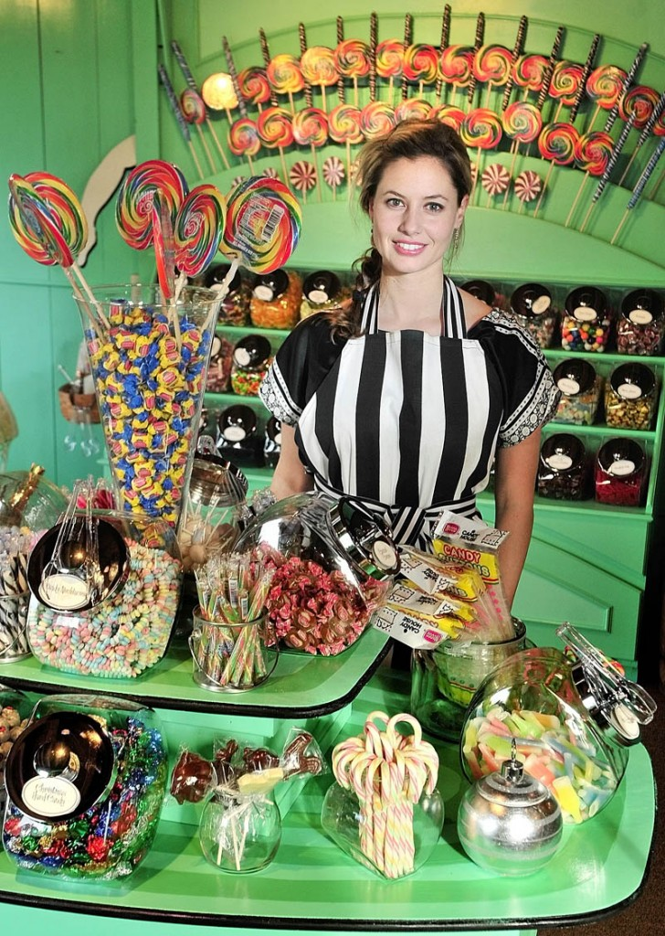 Hilary Davis, pictured, and her mother, Kim Davis, recently opened the Scrummy Afters Novelty Candy Shoppe on Water Street in Hallowell.