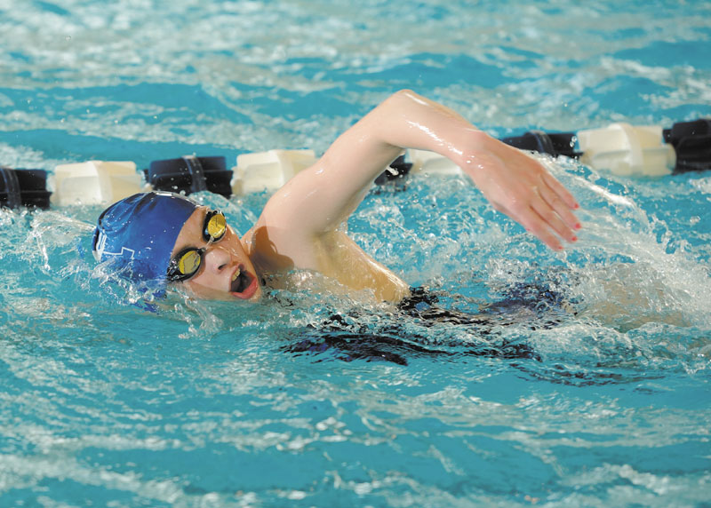 SO FAR, SO GOOD: Cony High School graduate Victoria Weber has adjusted well to college swimming at Assumption College. In 13 meets this season, Weber has five first places, five seconds and three third.