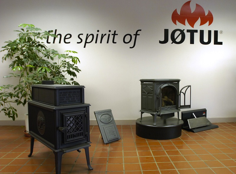 This May 2006 file photo shows new stoves being sold by Jotul in Gorham. Certain gas fireplace inserts made by Jotul North America of Gorham have been voluntarily recalled due to potential electrical shock and burn hazards, the company said on Tuesday, Dec. 4, 2012. John Patriquin