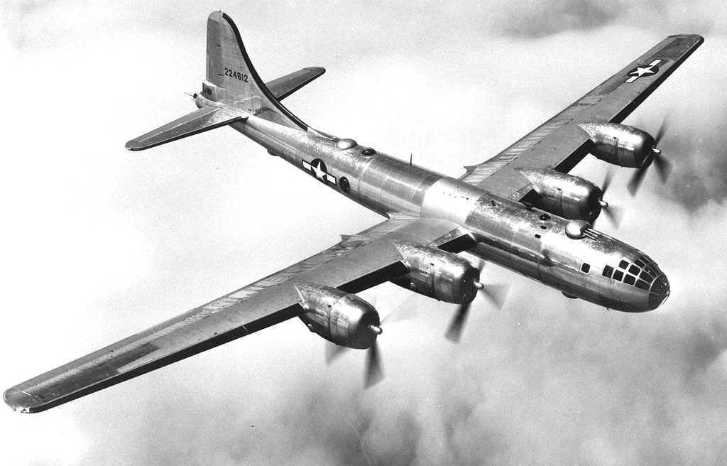 A B-29 Superfortress aircraft, similar to the one in which Bill Joseph served in the Pacific theater of World War II.