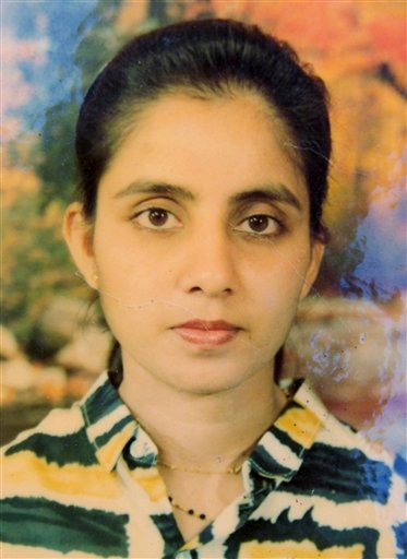 An undated photo of the late nurse Jacintha Saldanha provided by Saldanha's family in Shirva north of Mangalore, India.