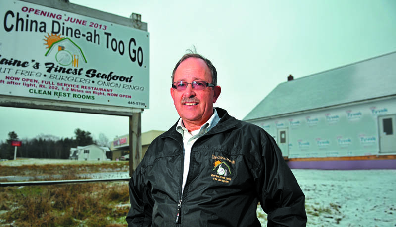 Norm Elvin will open a seasonal restaurant, The China Dine-ah Too Go, at 363 Route 3 in China, in June.