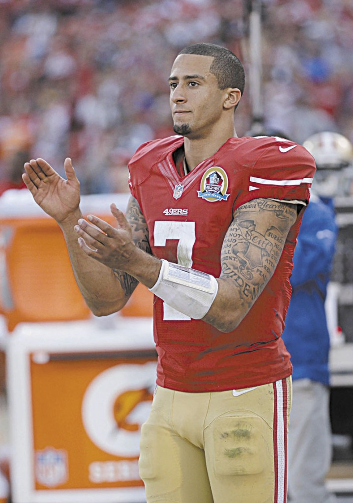ACTION PACKED: San Francisco 49ers quarterback Colin Kaepernick has three passing touchdowns, five scoring runs and a 67.4 completion percentage, but has thrown only one interception in 129 pass attempts. He has also eclipsed 200 yards passing in three of his four starts and is averaging 7.6 yards per carry.