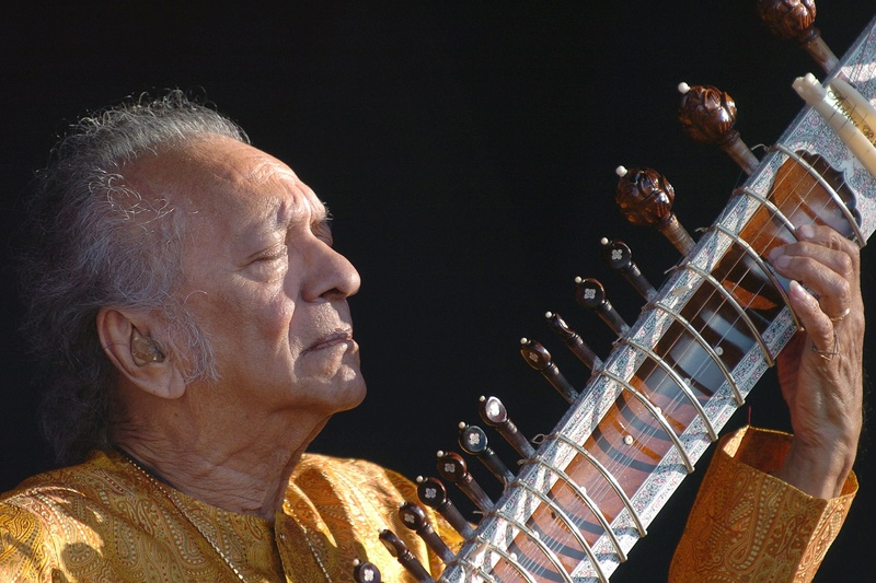 Indian musician Ravi Shankar was a sitar virtuoso who became a hippie musical icon of the 1960s after hobnobbing with the Beatles and who introduced traditional Indian ragas to Western audiences over an eight-decade career.