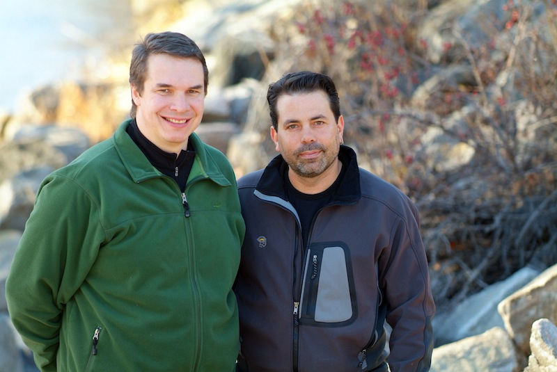 This 2006 photo released by Viking shows Greg Mortenson, left, and David Oliver Relin, co-authors of the best-selling book
