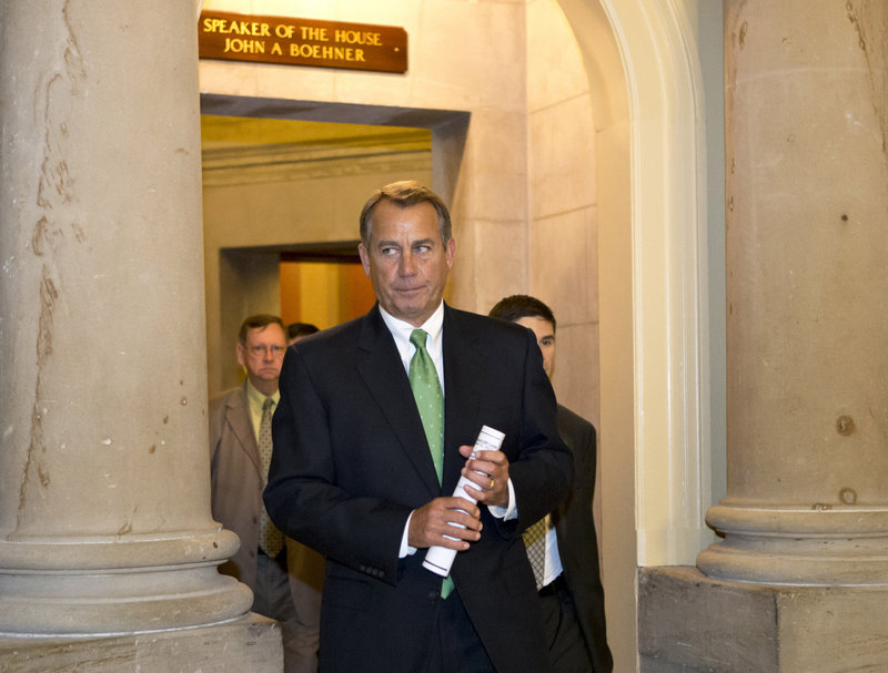 "Speaker John Boehner heads to the House floor Tuesday to deliver remarks about ""fiscal cliff"" negotiations."