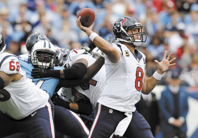 QUALITY COMPETITION: Quarterback Matt Schaub and the 11-1 Houston Texans will play the New England Patriots on Monday night in Foxborough, Mass. The Patriots are 9-3 and have seven wins against teams with a losing record. LP Field