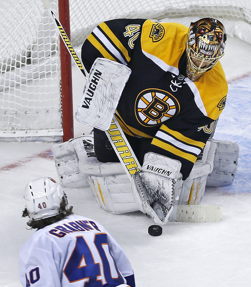 Tuuka Rask made 24 saves in the Bruins win vs. the Islanders on Friday.