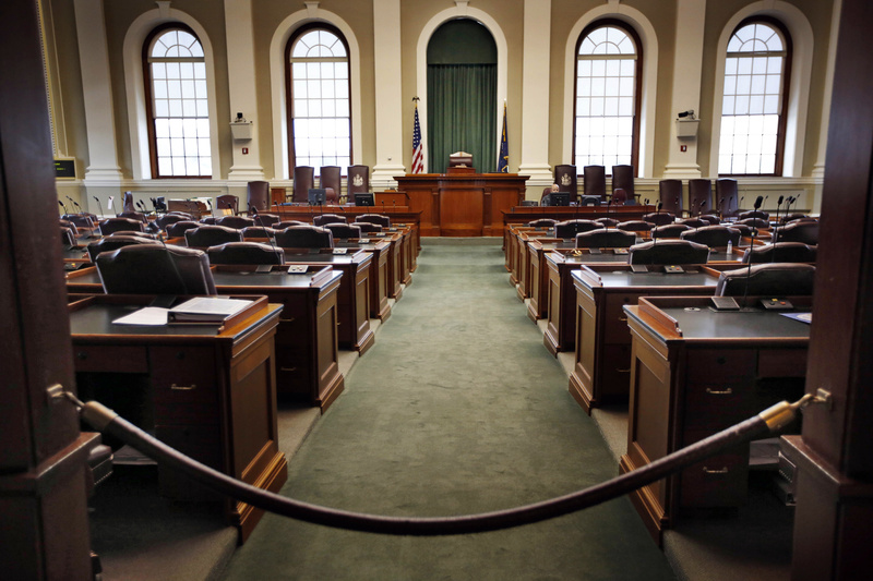 The House Chamber in the State House in Augusta on Jan. 4.