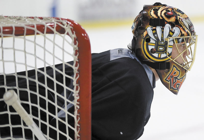THE MAN IN NET: Tuukka Rask will take over as the Boston Bruins No. 1 goaltender this season after Tim Thomas decided to take the season off. Rask was the Bruins No. 1 goalie in 2010, but played just 25 games last season. Ristuccia Arena
