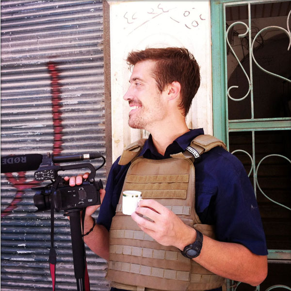 James Foley, photographed in Aleppo, Syria, in July 2012. Photo by Nicole Tung.