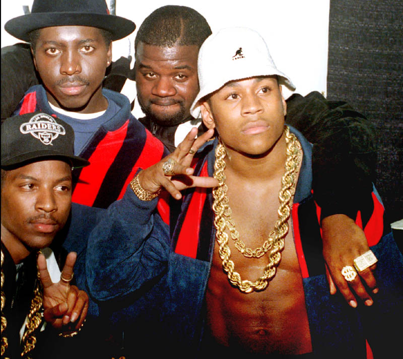 A video of LL Cool J performing at Waterville's Colby College in 1985 is getting lots of attention on blogs and social media. The hip-hop star, far right, is shown with other artists of the era at the 1988 Soul Train Music Awards. From left are Bobcat, E. Love and Cut Creator.