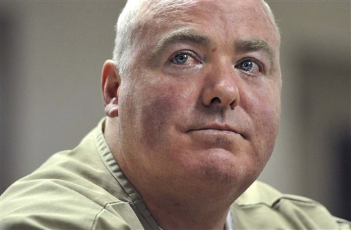 Michael Skakel listens during a parole hearing at McDougall-Walker Correctional Institution in Suffield, Conn., in this Oct. 24, 2012 file photo.