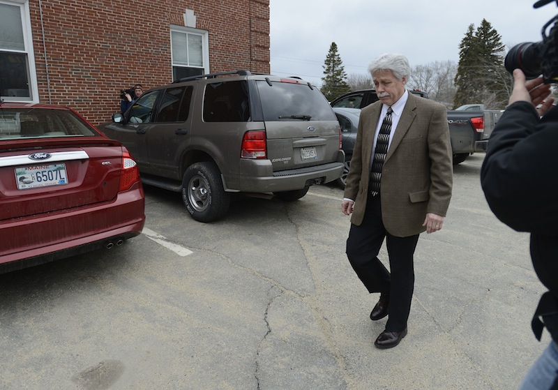 Mark Strong Sr. leaves the courthouse following his trial Wednesday, March 6, 2013. Strong was found guilty of 12 counts of promotion of prostitution and one count of conspiring to promote prostitution.