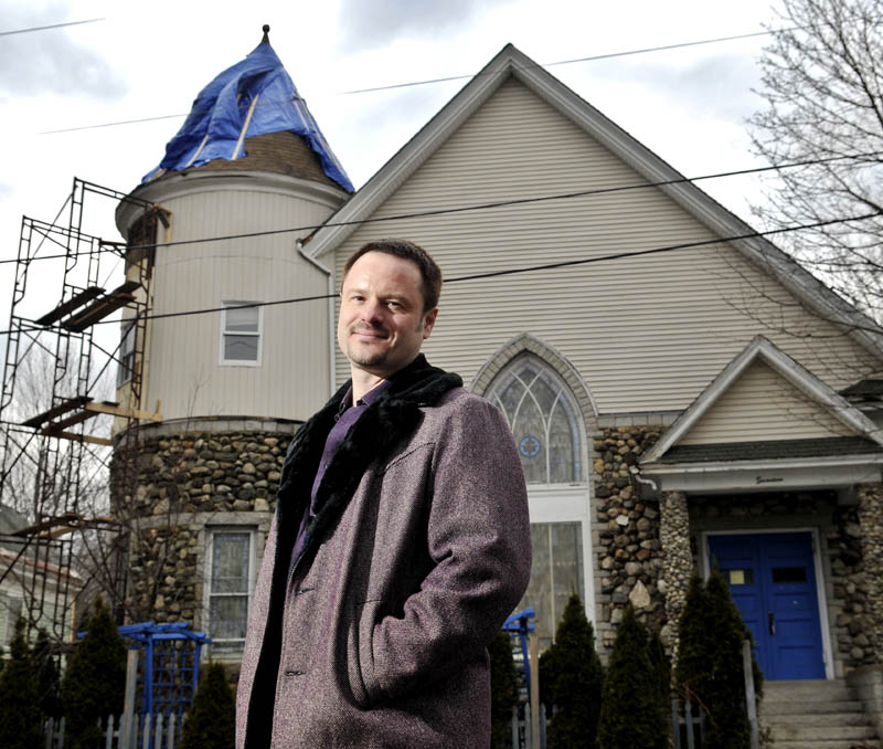 Shawn Dolley is renovating a former church on Lincoln Street in Gardiner into a bed and breakfast and apartments.