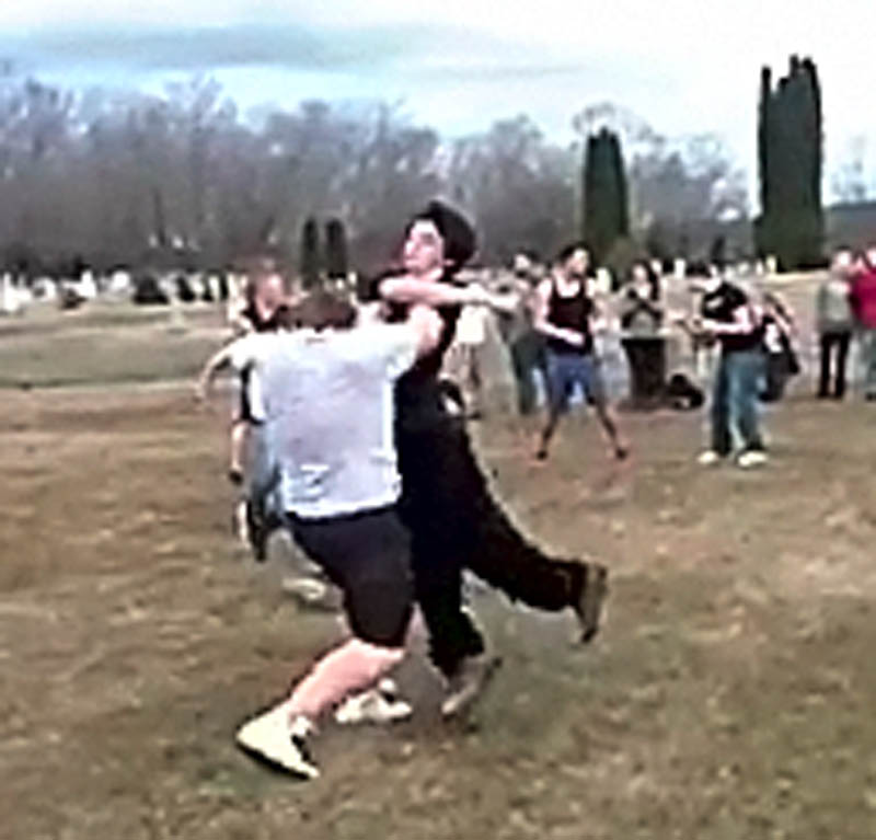 A video posted on YouTube recently showed Lawrence and Waterville students fighting in Waterville's St. Francis Cemetary, according to police. The video was removed by YouTube for violating the website's terms of service.