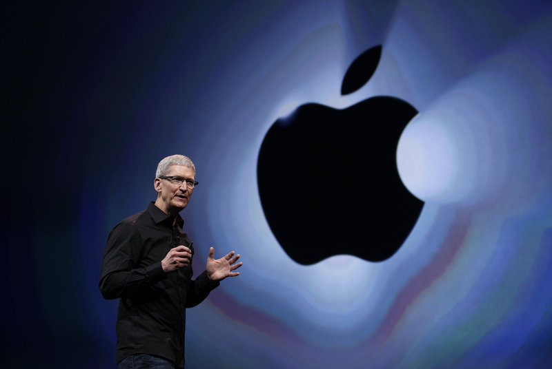 Apple CEO Tim Cook, in a March 2012 photo. Apple's stock is still close to its 52-week low of $419, which it hit a month ago. On Wednesday, the stock was up 2.24 to 432.03 in late afternoon trading.