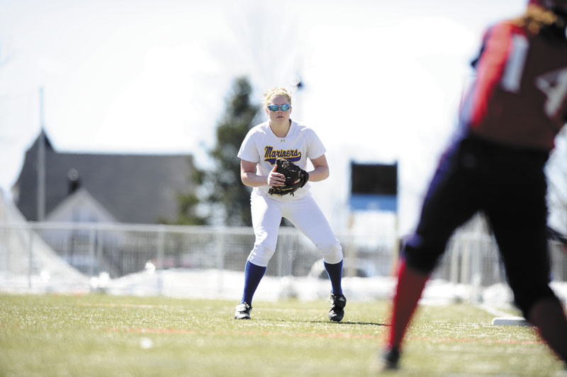 IMPACT PLAYER: Mt. Blue High School graduate Sabrina Keach is batting .506 with 10 doubles and two home runs this season for the Maine Maritime Academy softball team.