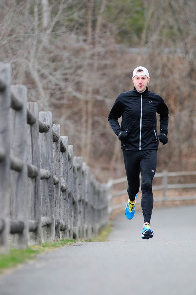 READY TO GO: Seth Hasty will run in his second Boston Marathon on Monday. Hasty ran in the marathon in 2011.