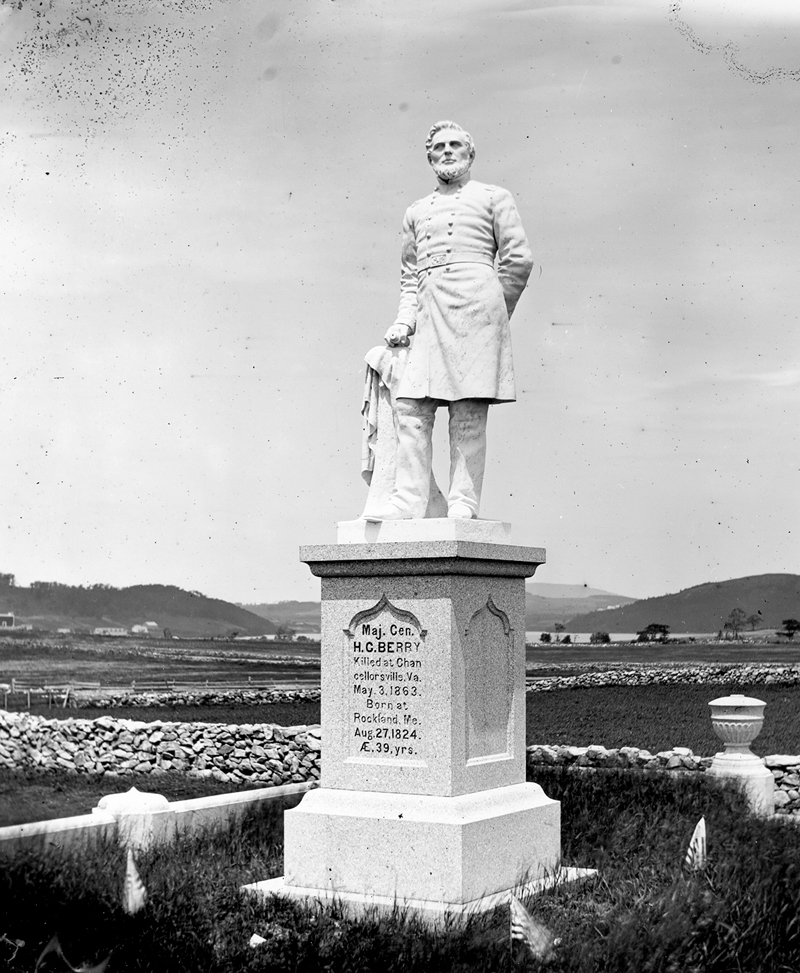 Franklin Simmons' life-size, marble statue of Gen. Hiram G. Berry marks the general's final resting place at the Achorn Cemetery in Rockland. The statue took two years to create and was placed at the cemetery by the family two years after the general's death at the Battle of Chancellorsville, on May 3, 1863.