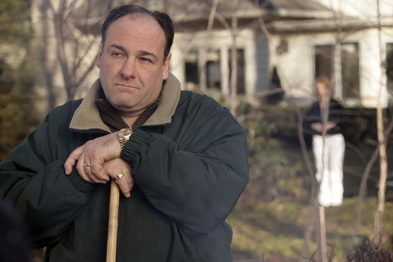 This file photo released by HBO in 2007 shows James Gandolfini as Tony Soprano in a scene from one of the last episodes of the HBO dramatic series