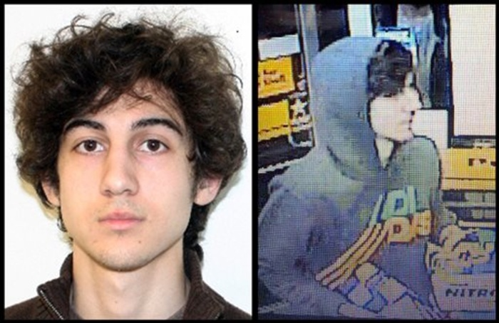 This combination of photos provided by police agencies show Dzhokhar Tsarnaev, who was indicted Thursday in the Boston Marathon bombings.