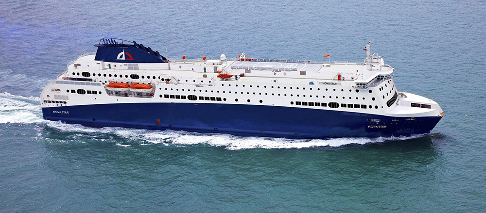 A Maine company called Quest Navigation Inc., has joined with International Shipping Partners of Miami and ST Marine of Singapore for a proposal to operate at ferry service between New England and Yarmouth, Nova Scotia. The vessel, built in Singapore, would be called the Nova Star. It has 162 cabins, two restaurants and a maximum capacity for 1,215 passengers. It is 59 feet longer than the Scotia Prince, which operated between Portland and Yarmouth from 1982 to 2004.