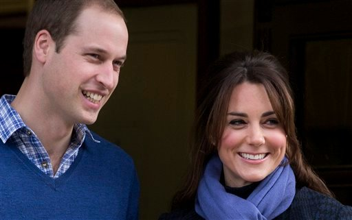 Royal officials said Prince William and his wife, Catherine, Duchess of Cambridge, arrived by car without a police escort at St. Mary's Hospital in London just before 6 a.m. Monday.