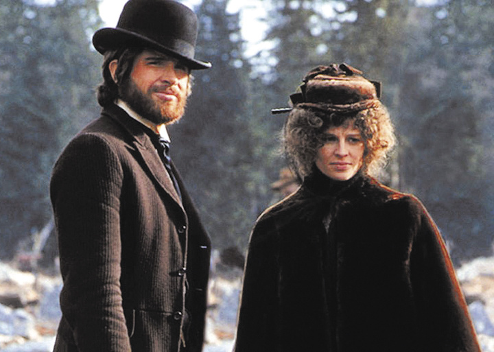 "Warren Beatty and Julie Christie star in the Western classic ""McCabe and Mrs. Miller."""