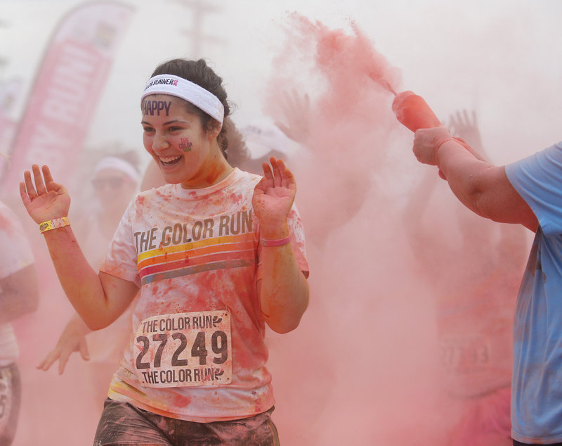 The Color Run made its Maine debut in South Portland on July 7.