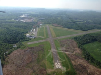 In this undated photo from the Norridgewock town website, the runways of the Central Maine Regional Airport are seen. Radio-frequency jamming in the vicinity of the airport is creating a dangerous situation, according to police.