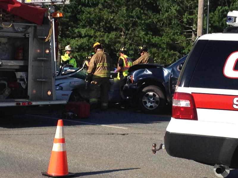 A two car collision on Civic Center Drive in Augusta Wednesday evening has left one person injured.
