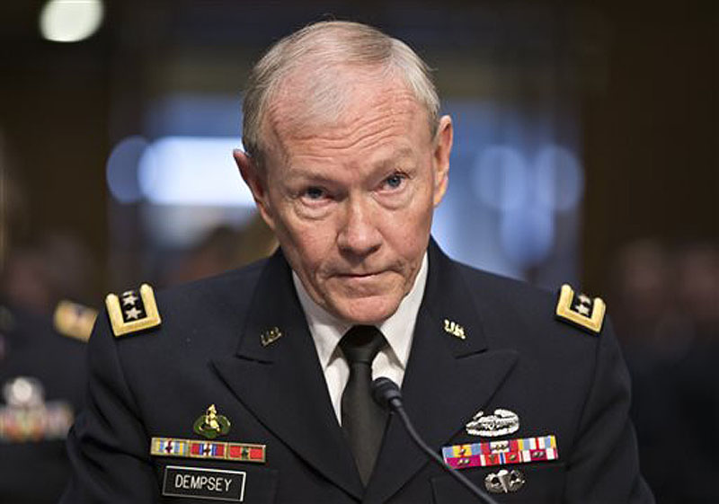 Gen. Martin Dempsey, chairman of the Joint Chiefs of Staff, shown at a hearing before the Senate Armed Services Committee on July 18, told ABC's