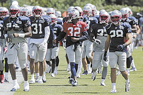 READY TO ROLL: Defensive back Devin McCourty (32) is ready to make an even bigger impact for a New England secondary that is looking to distinguish itself this season.