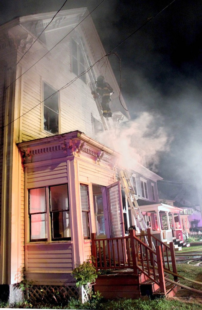 The fire at a vacant house at 5 Elm Court in Waterville on Sunday is now being investigated as arson.