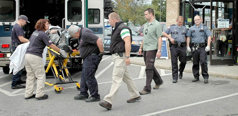 Michael Whisman, 50, of Fairfield, was taken by ambulance to Redington-Fairview General Hospital in Skowhegan after falling off a step ladder in Rite Aid Thursday. Police said Whisman was later transported by LifeFlight helicopter to Eastern Maine Medical Center in Bangor.