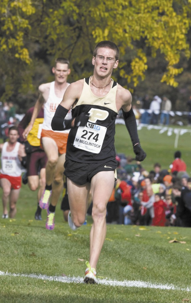 RUNNING STRONG: Madison graduate Matt McClintock is preparing for his sophomore season at Purdue University. The Athens native finished eighth at the Big Ten Cross Country Championship Meet as a freshman.