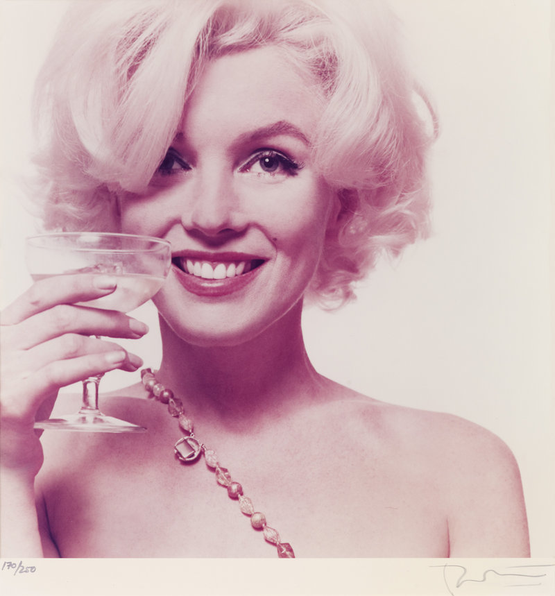 This 1962 photo of Marilyn Monroe taken by Bert Stern is among those to be auctioned.